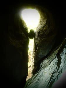 Pohľad zpekne modelovanej Osej jaskyne...