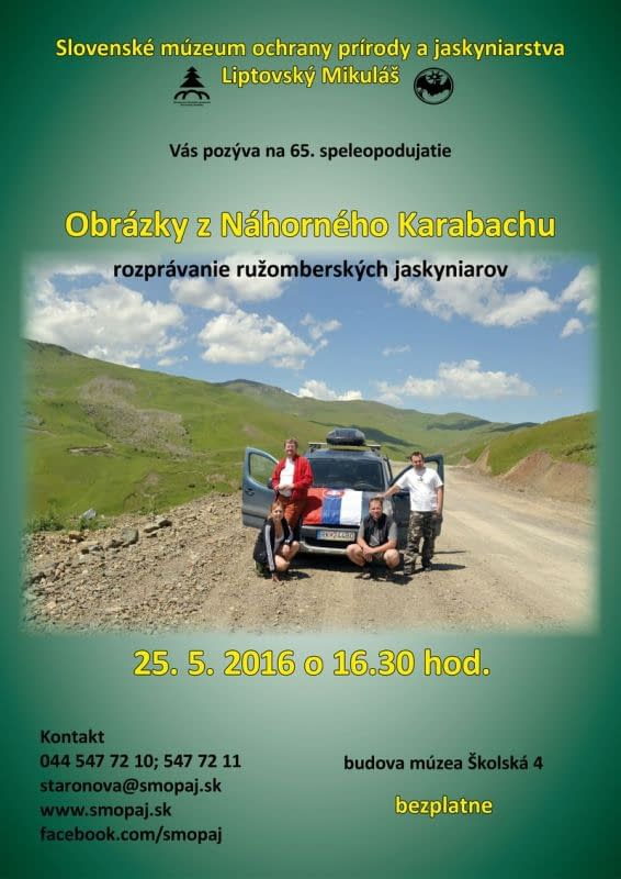 Obrázky z Náhorného Karabachu – 65. speleopodujatie
