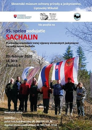 Pozvánka na prednášku – 95. Speleopodujatie SACHALIN
