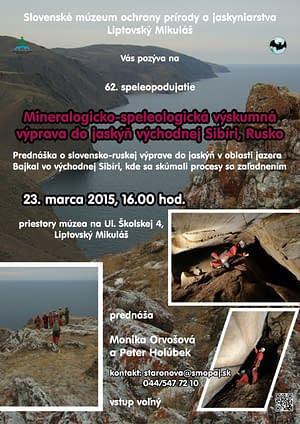 Prednáška o jaskyniach v okolí Bajkalu